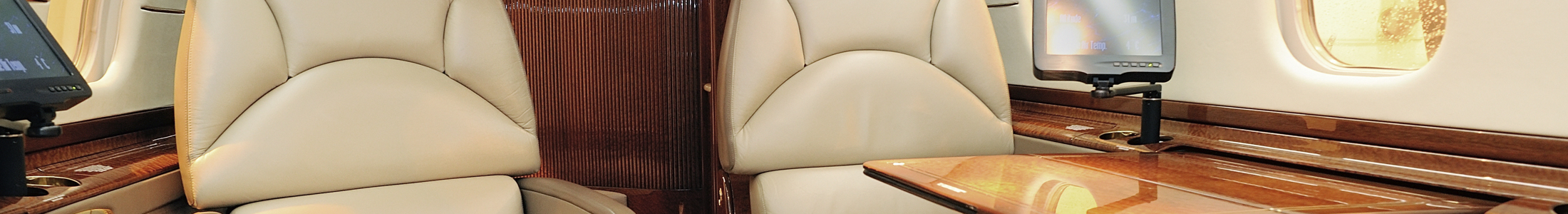 Leather Chairs Inside of Plane