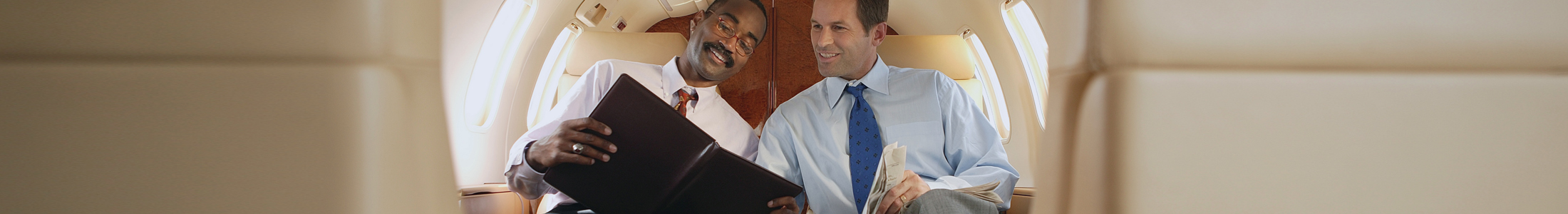 Two Businessmen On A Plane